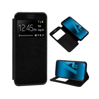 Capa Flip Cover Samsung A40 A405 Preta