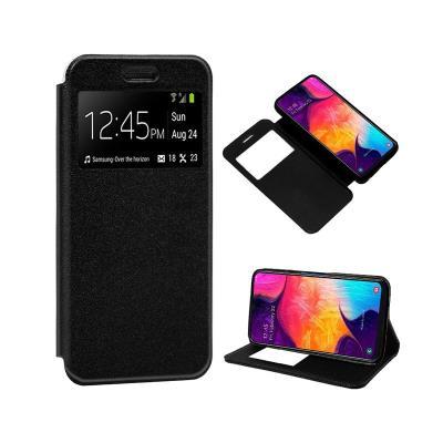 Funda Flip Cover Samsung A50 A505 Negra