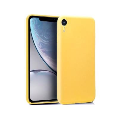 Silicone Cover iPhone XR Yellow