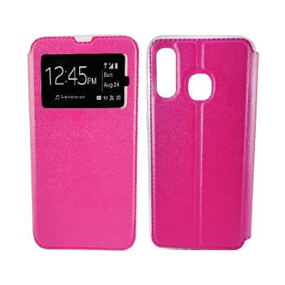 Funda Flip Cover Samsung A40 A405 Rosa
