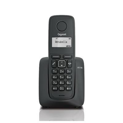 Telefone Fixo Sem Fios Siemens Gigaset A116 Preto