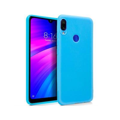 Capa Silicone Xiaomi Redmi 7 Azul