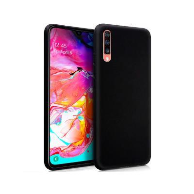 Funda Silicona Samsung Galaxy A70 A705 Negra