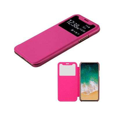 Capa Flip Cover iPhone X Com Fecho Magnético Rosa