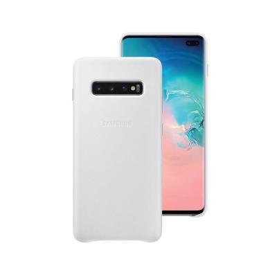 Capa de Pele Original Samsung Galaxy S10 Plus Branca (EF-VG975LWE)