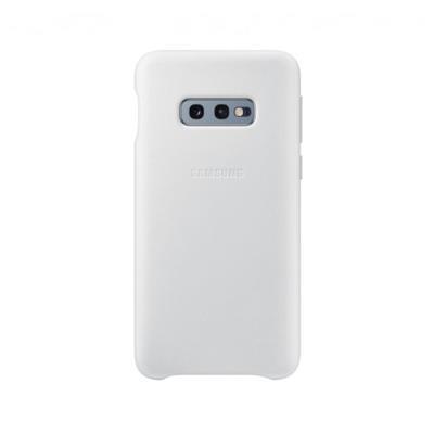 Funda de Piel Original Samsung Galaxy S10e Blanca (EF-VG970LWE)