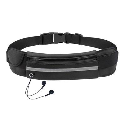 Sports Waist Bag with Bottle Holder Black