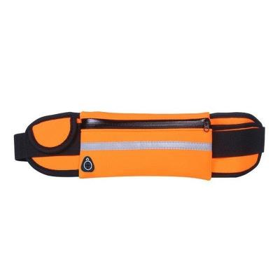 Sports Waist Bag with Bottle Holder Orange