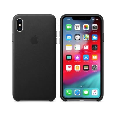 Capa Leather Case Original Apple iPhone XS Max Preta