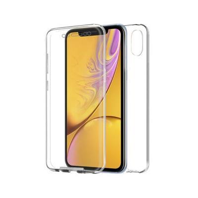 Capa Silicone Frente e Verso iPhone XR Transparente