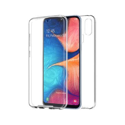 Capa Silicone Frente e Verso Samsung A20e 2019 Transparente