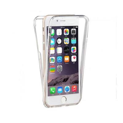 Capa Silicone Frente e Verso iPhone 6 Plus Transparente