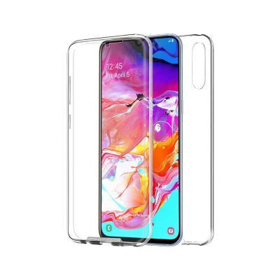 Capa Silicone Frente e Verso Samsung A70 A705 Transparente