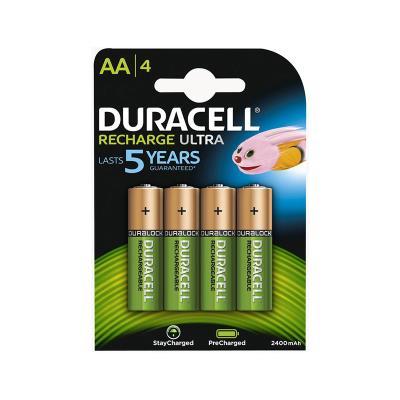 Pilhas recarregáveis Duracell Ultra AA Pack 4 HR6