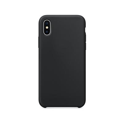 Funda Silicona Premium Forcell iPhone X/XS Negra