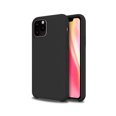 Capa Silicone Premium iPhone 11 Pro Max Preta