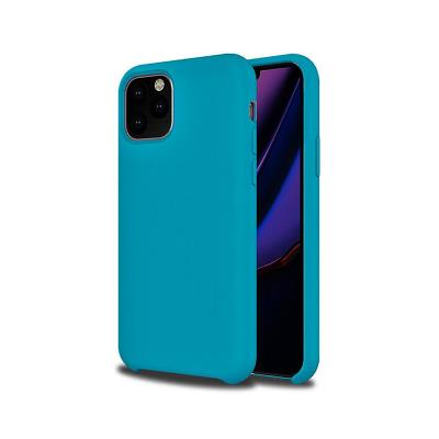 Capa Silicone Premium iPhone 11 Pro Max Azul