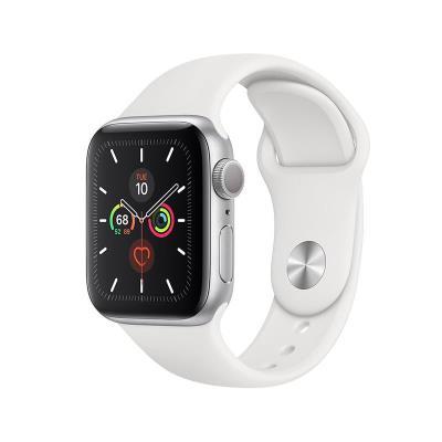 Smartwatch Apple Watch Series 5 GPS 44mm Alumínio Prateado c/ Bracelete Desportiva Branca