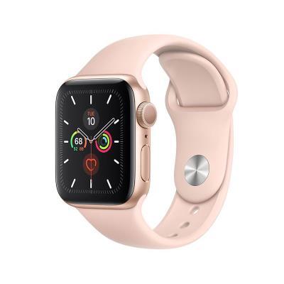Smartwatch Apple Watch Series 5 GPS 44mm Gold Aluminum Case w/ Pink Sport Band