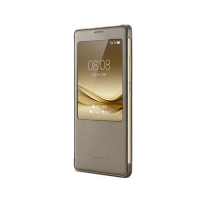 Capa Smart View Original Huawei Mate 8 Castanha