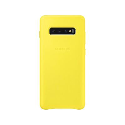 Funda de Piel Original Samsung Galaxy S10 Plus G975 Amarilla (EF-VG975LYE)