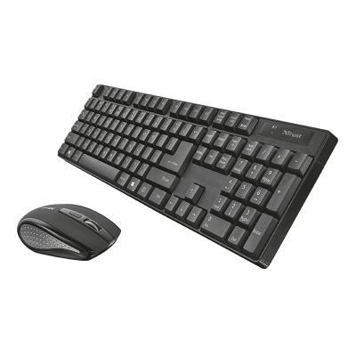 Keyboard + Mouse Trust Ximo Wireless Black