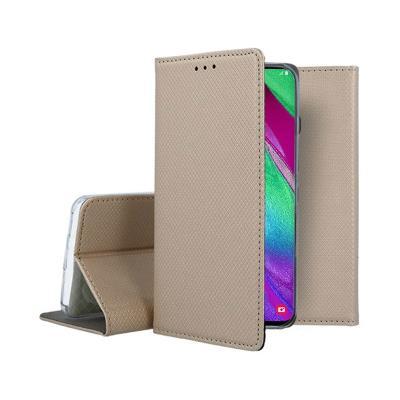 Capa Flip Cover Premium Samsung Galaxy A40 A405 Dourada