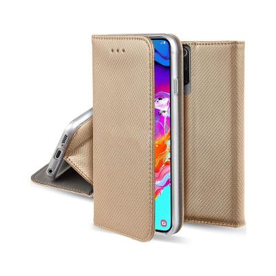 Funda Flip Cover Premium Samsung Galaxy A70 A705 Dorada