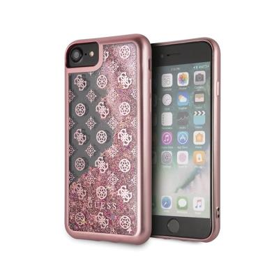 Glitter Silicone Cover Guess Liquid iPhone 7/8 Pink