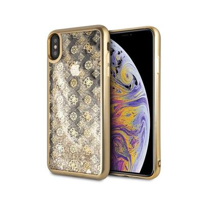 Glitter Silicone Cover Guess Liquid iPhone XS Max Gold