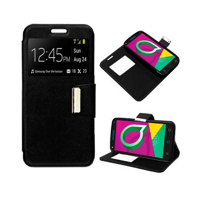 Capa Flip Cover Alcatel U5 3G 4047 Preta