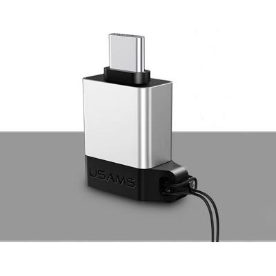Adapter USAMS USB Tipo-C to USB 3.0 OTG Silver (SJ186)