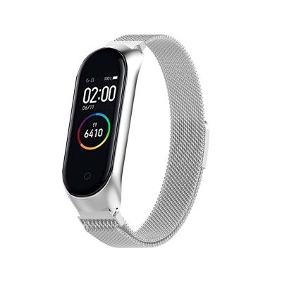 Metal Watch Band Xiaomi Mi Band 3/4 Silver