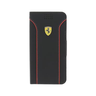 Universal Flip Cover Cover Ferrari 4.6''-5.2'' Black (FEDA2IBKLBL)