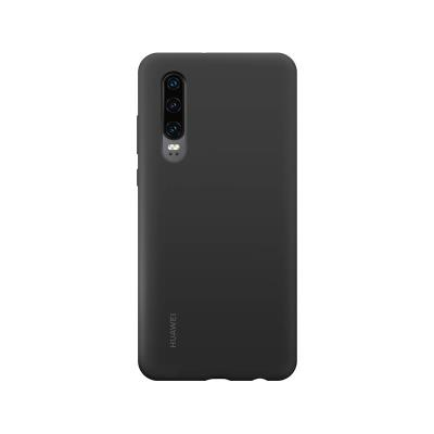 Funda Silicona Original Huawei P30 Negra