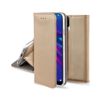 Capa Flip Cover Premium Huawei Y6 2019/Honor 8A Dourada