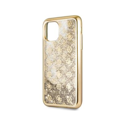 Glitter Silicone Aqua Cover Guess iPhone 11 Gold