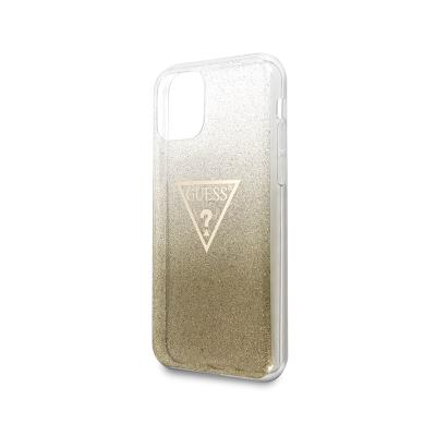 Glitter Silicone Cover Guess iPhone 11 Pro Gold