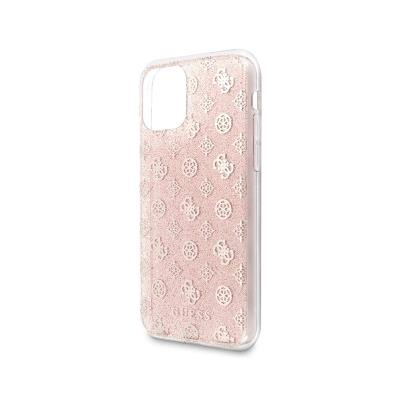 Glitter Silicone Cover Guess iPhone 11 Pro Max Pink