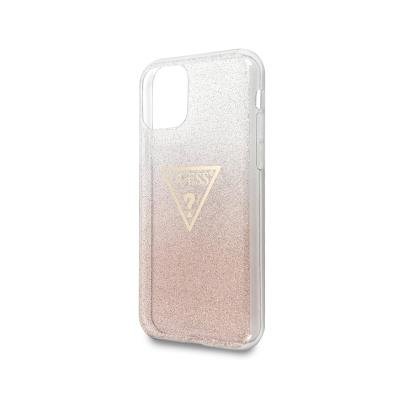 Glitter Silicone Cover Guess iPhone 11 Pink