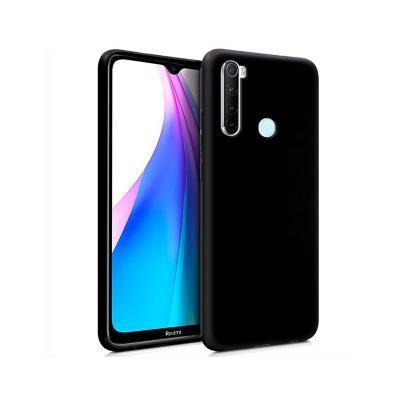 Capa Silicone Xiaomi Redmi Note 8/Note 8 2021 Preta