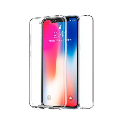 Funda Silicona 360º iPhone X Transparente