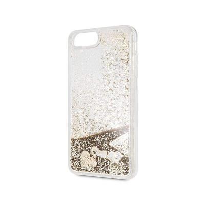 Capa Silicone Brilhantes Guess iPhone 7/8 Plus Aqua Dourada
