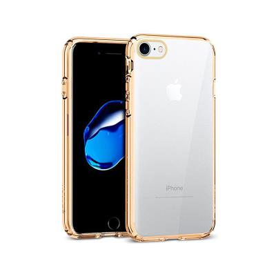 Silicone Cover iPhone 7/8 Transparent/Gold