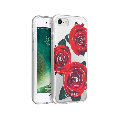 Silicone Cover Guess Roses iPhone 7/8 Transparent
