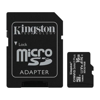 Cartão Memória Kingston MicroSD 16GB Canvas Select Plus C10