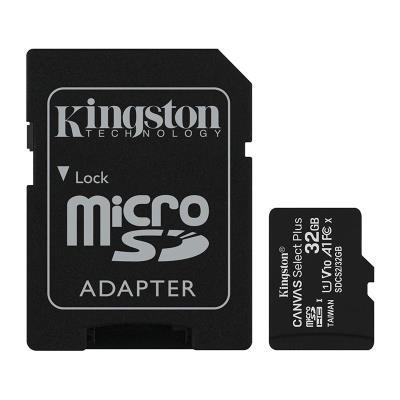 Cartão Memória Kingston MicroSD 32GB Canvas Select Plus C10