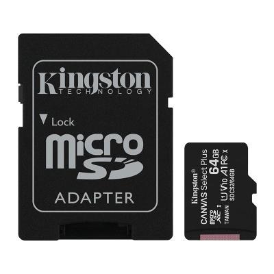Memory Card Kingston MicroSD 64GB Canvas Select Plus C10