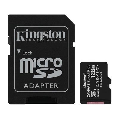 Cartão Memória Kingston MicroSD 128GB Canvas Select Plus C10