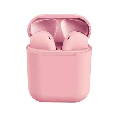 Auriculares Bluetooth InPods 12 c/Caixa de Carregamento Rosa